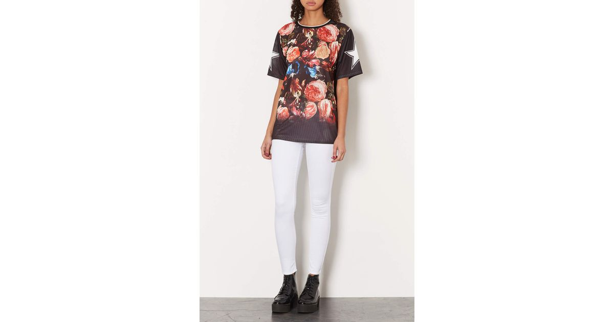 Topshop Moto White Leigh Jeans in White   Lyst