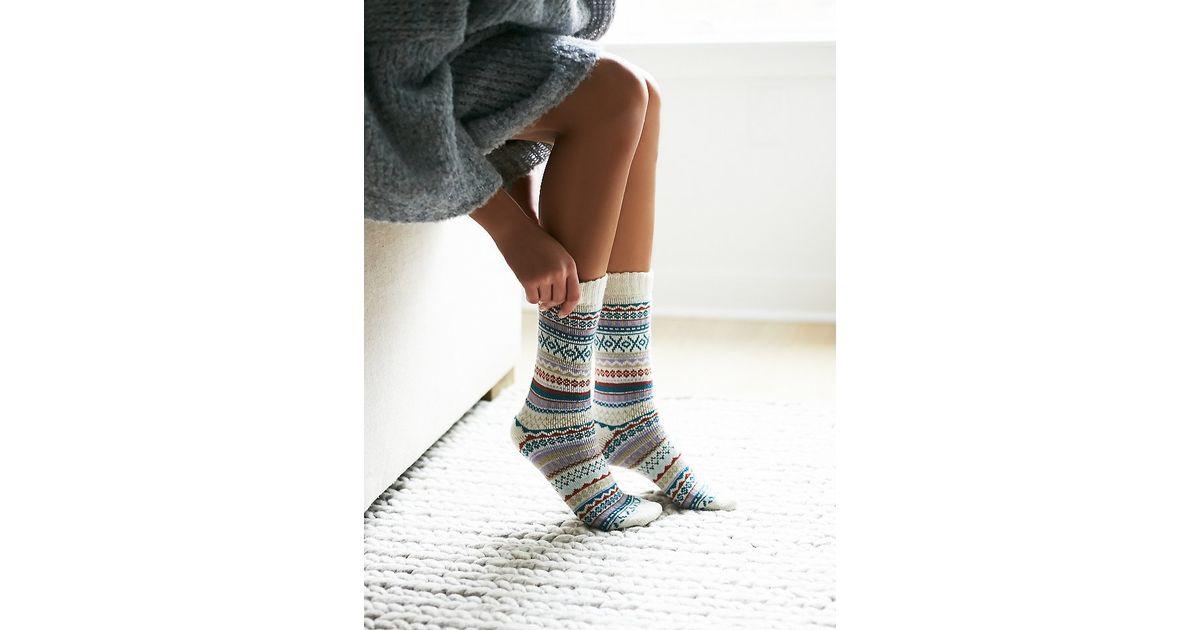 Lyst - Free people Urban Knit Womens Haydon Fairisle Sock