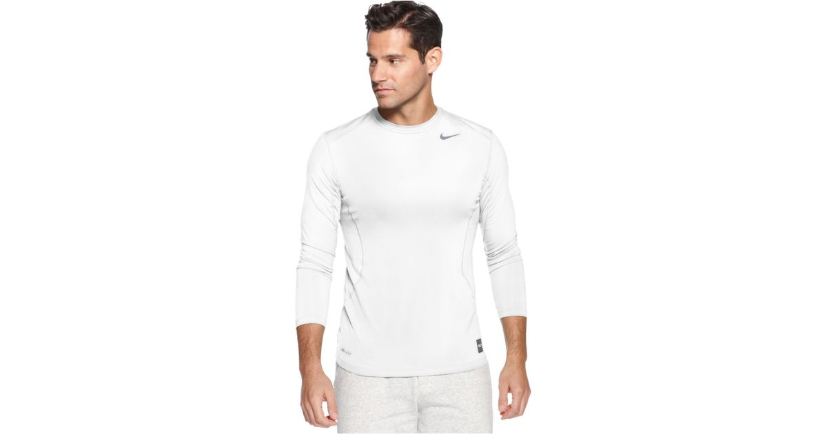 a1f3b9f9078 Lyst - Nike Pro Combat Dri-Fit Fitted Long Sleeve Tee in Blue for Men