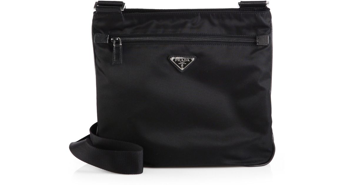 e56b192f04bc italy lyst prada nylon messenger bag in black for men bf44a efe85