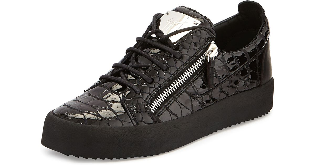 Giuseppe ZanottiCrocodile-embossed low-top sneaker FRANKIE hNc2xDno