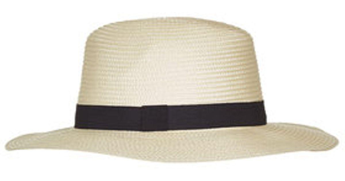 924434eb128 new arrivals topshop classic fedora hat in natural lyst 6c9d6 4a17b