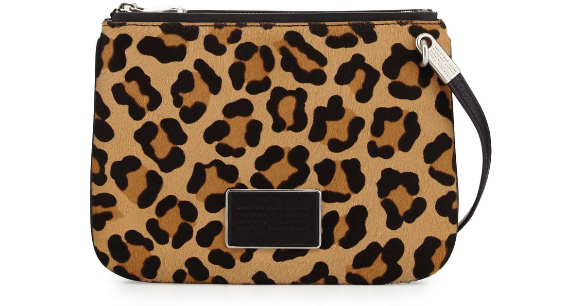 62a474f247a0 Lyst - Marc By Marc Jacobs Ligero Leopard-print Calf Hair Double Percy  Crossbody Bag in Black