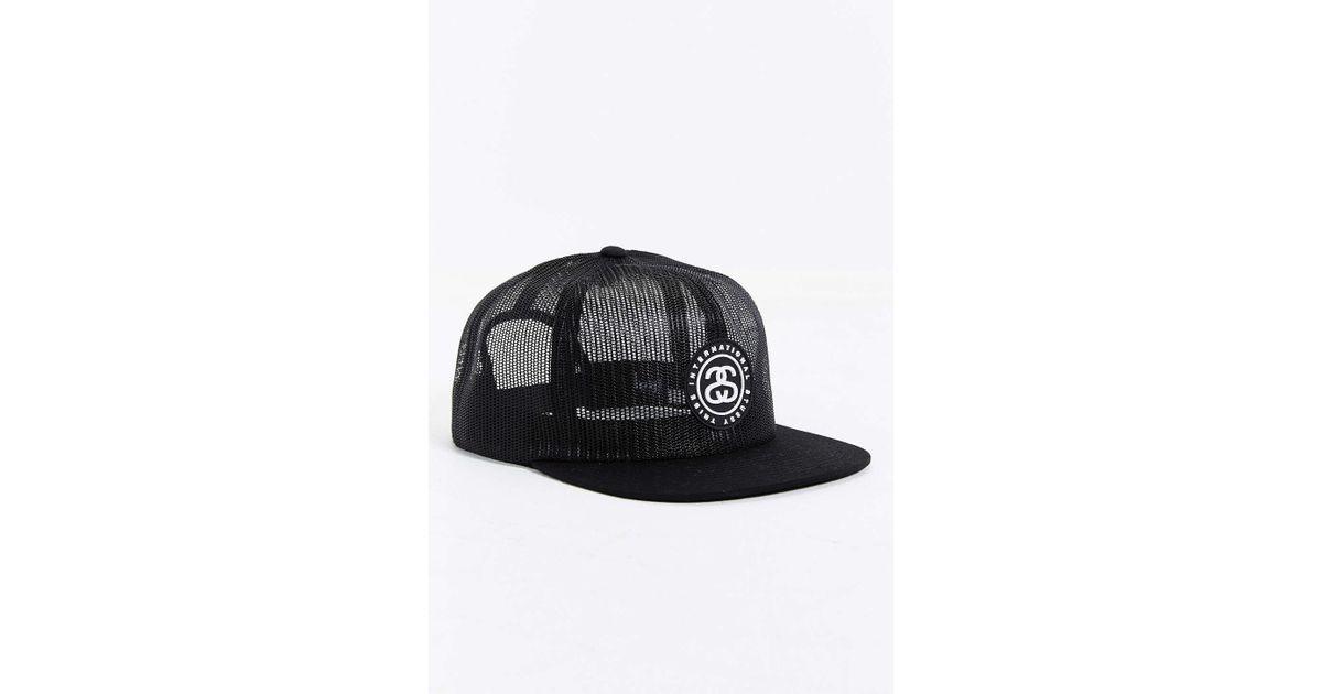 1d4af3da076ae1 Stussy International Mesh Snapback Hat in Black for Men - Lyst