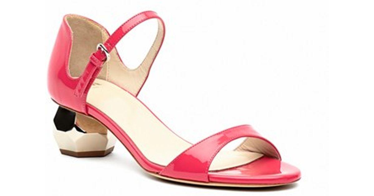 Frances Valentine U0027bellau0027 Ankle Strap Sandal In Red | Lyst