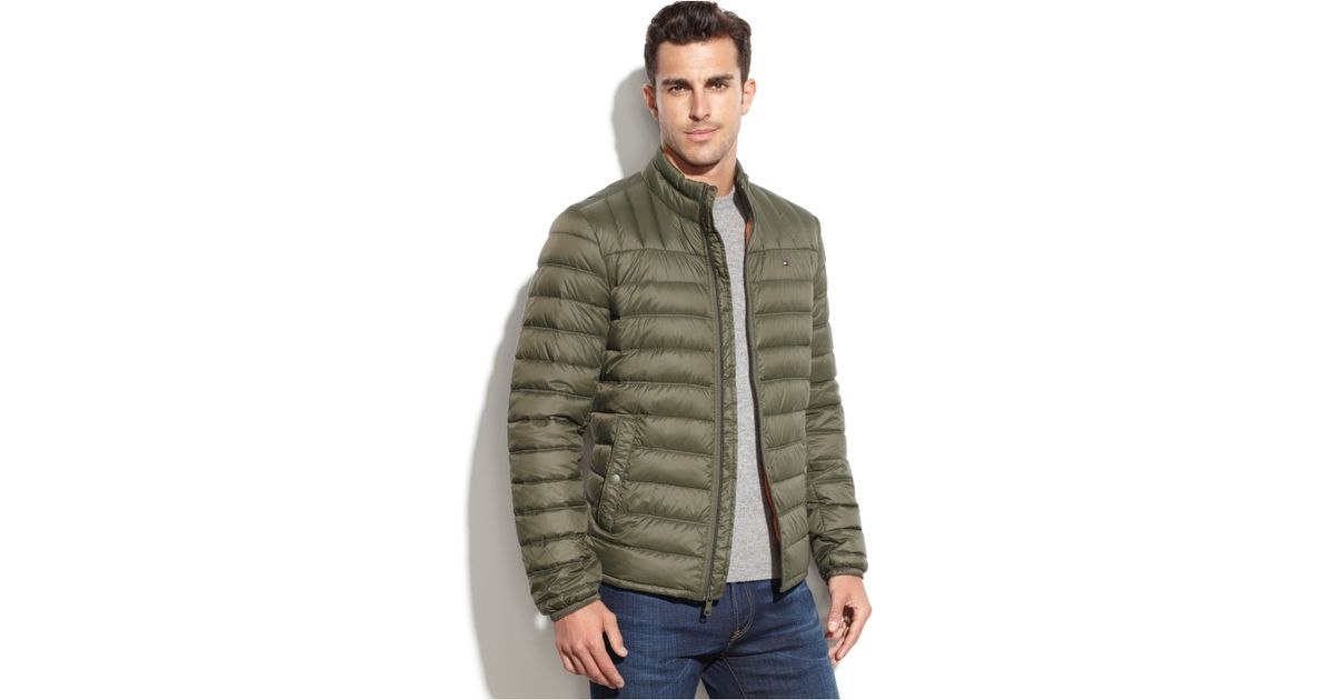 dcb9d0e3d18f Lyst - Tommy Hilfiger Quilted Packable Down Puffer in Green for Men