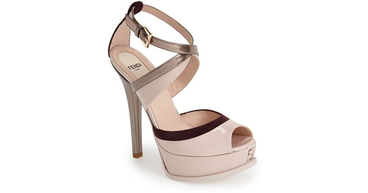 c3c04465724 Lyst - Fendi  Sta  Platform Sandal in Natural