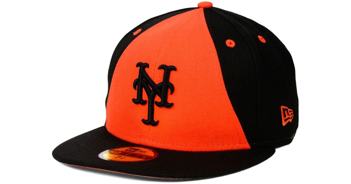 ce9d555fd60 ... low cost lyst ktz new york mets split time 59fifty cap in black for men  b55f7