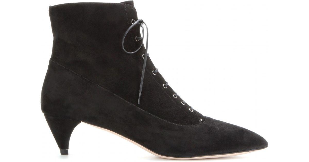 Clásico De Salida Miu Miu lace up ankle boots - Nero Para Pre Barato En Línea Comprar El Mejor Barato Al Por Mayor Precio Barato Wiki Fechas De Lanzamiento Auténtica N63JI