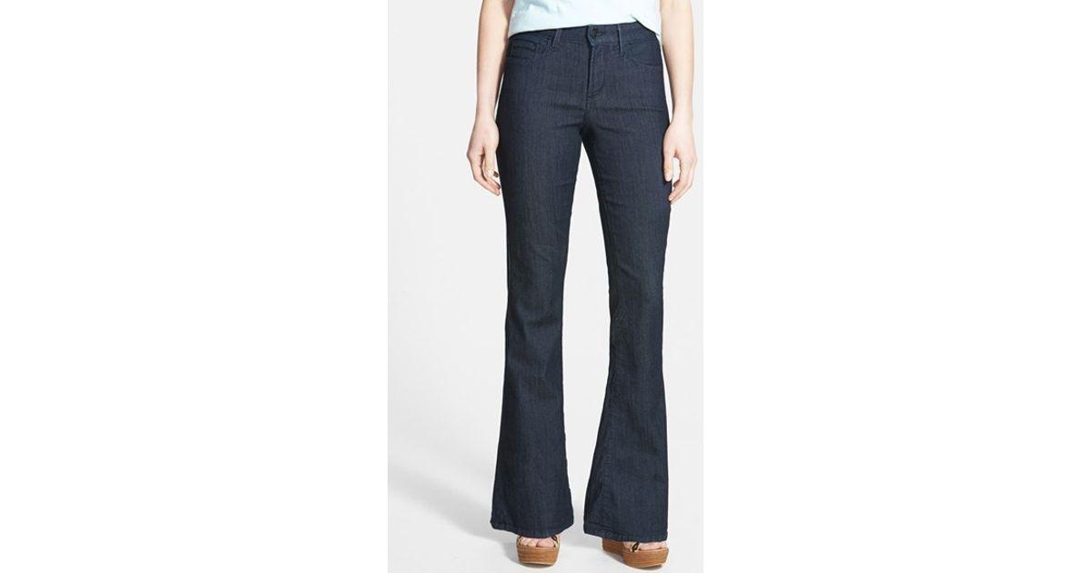 Nydj 'farrah' Stretch Flare Leg Jeans in Gray | Lyst