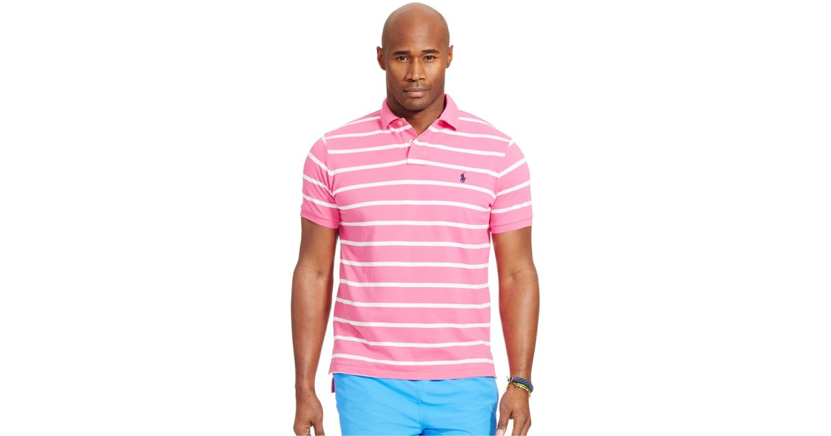 Mens Pink And White Striped Shirt