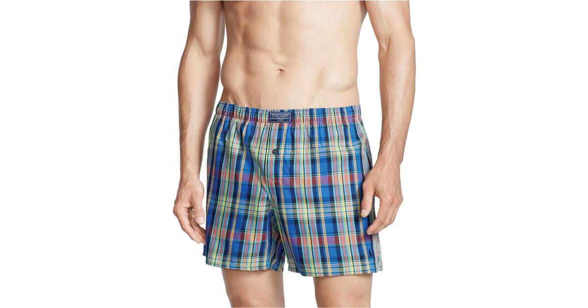 polo ralph lauren men 39 s boxer shorts in multicolor for men. Black Bedroom Furniture Sets. Home Design Ideas