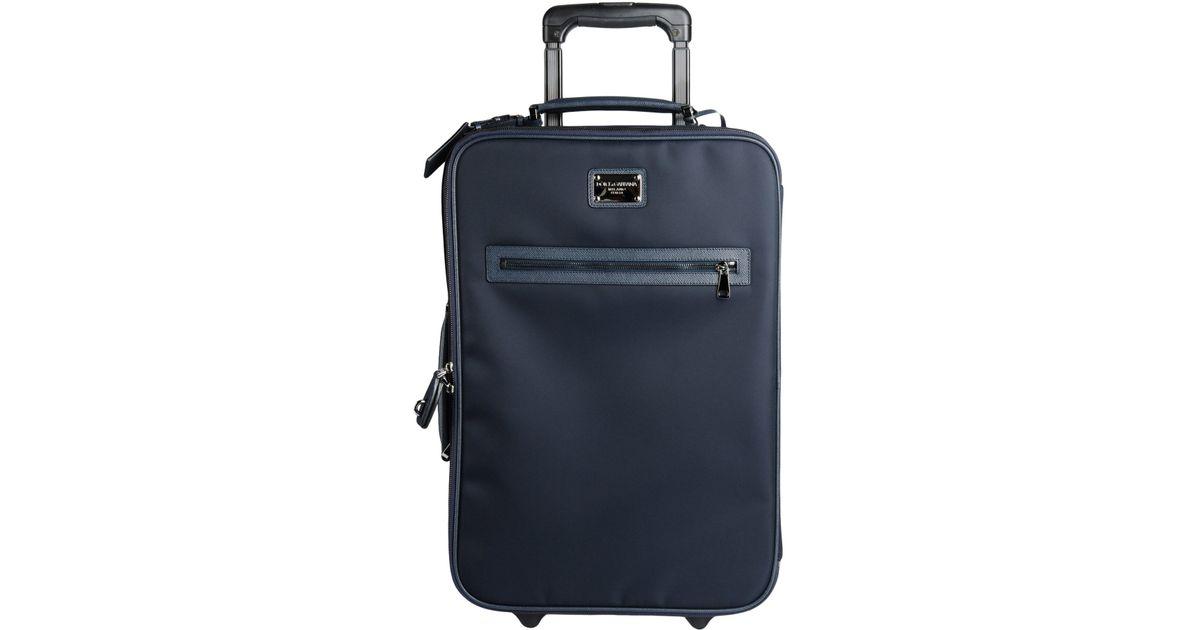 c0fd7555f4ea Lyst - Dolce   Gabbana Wheeled Luggage in Blue for Men
