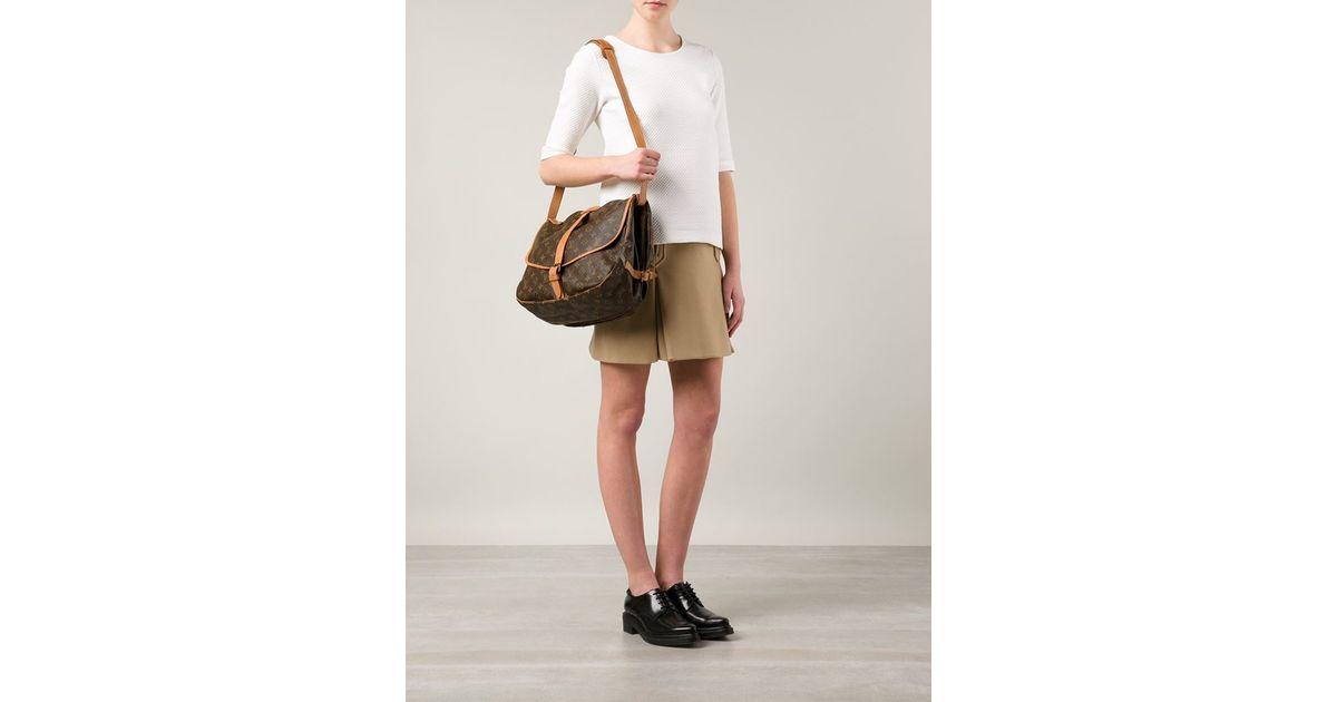 4ad56ce79c7c Lyst - Louis Vuitton  saumur 35  Shoulder Bag in Brown