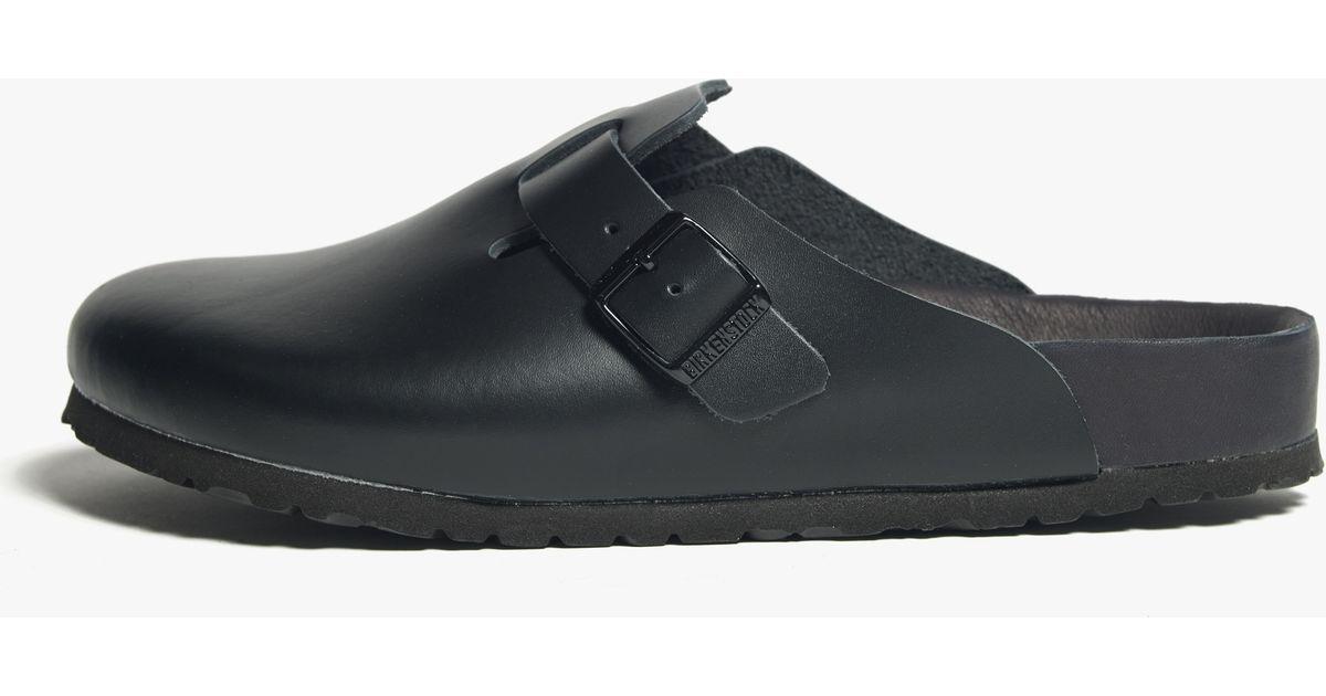 6cb0d95536c Lyst - James Perse Birkenstock Boston Leather Clog - Mens in Black for Men