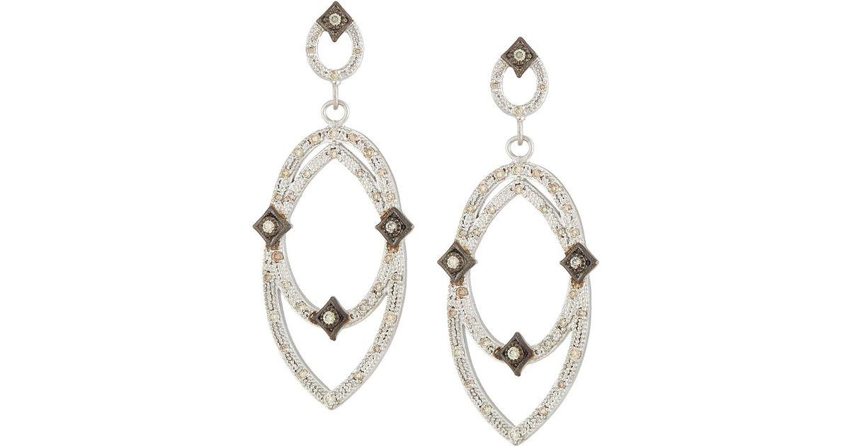 Armenta Crivelli Two-Tone Diamond Oval Earrings SHJwlz9m
