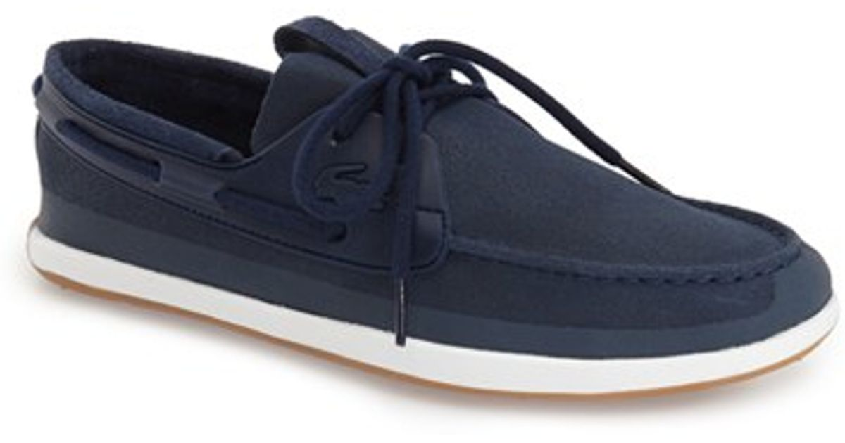 detailed look 44894 55406 Lacoste  landsailing  Boat Shoe in Blue for Men - Lyst