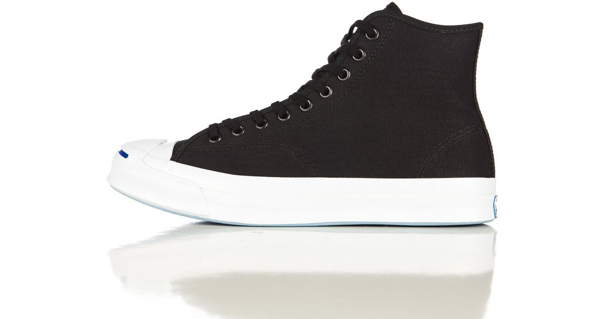 76b378d3e7e Lyst - Converse Jack Purcell Signature Duck Canvas Hi In Black in Black for  Men