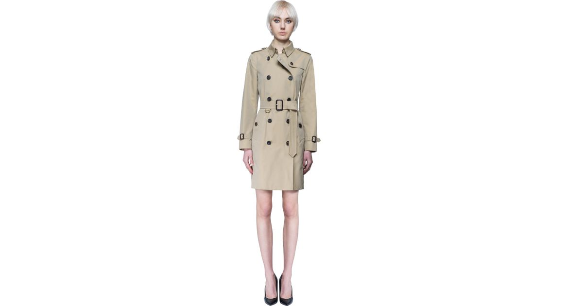 Burberry london sandringham trench coat in beige size for Burberry shirt size chart