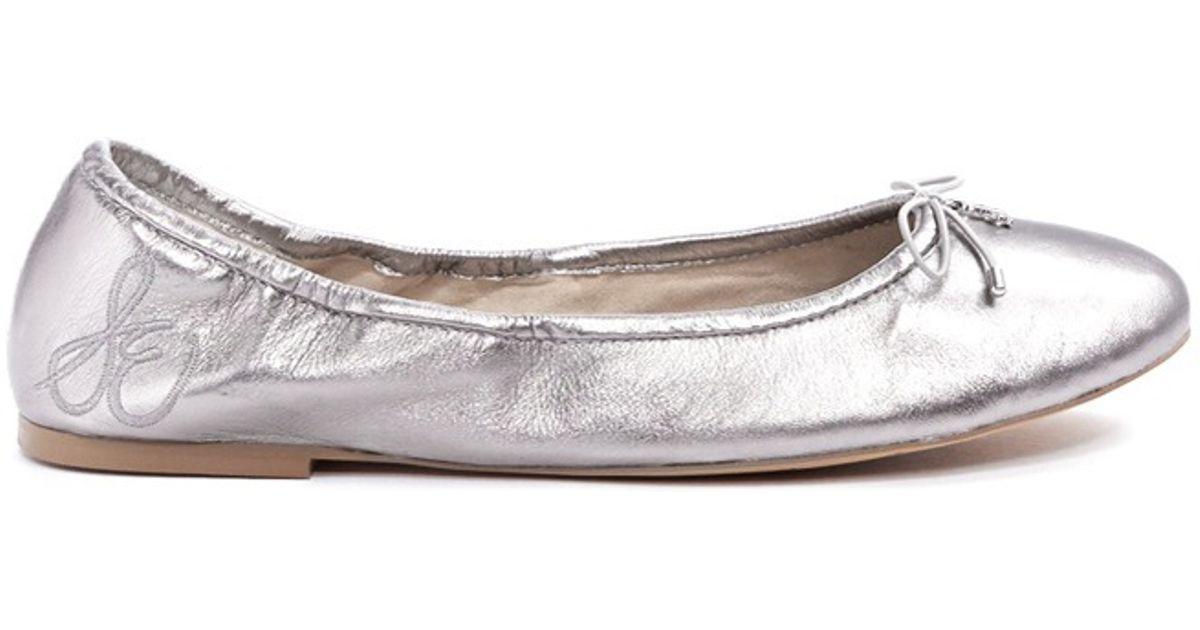 cc19c7b63826ea Sam Edelman  felicia  Leather Ballet Flats in Metallic - Lyst