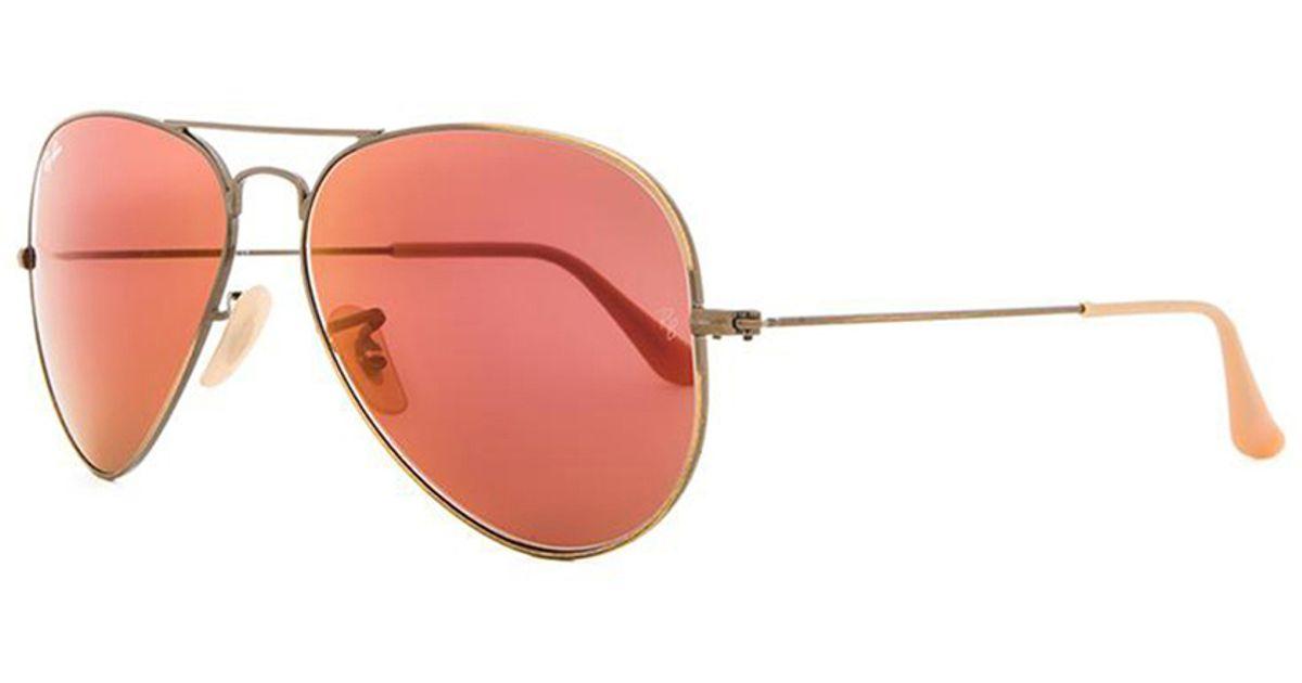 ray ban aviator red lenses