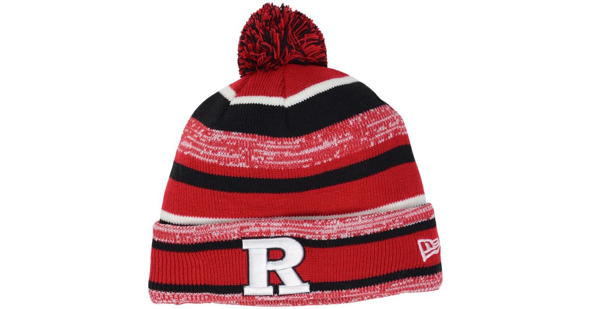 separation shoes 60797 91962 get usa lyst ktz rutgers scarlet knights sport knit hat in red for men  eee22 99da5