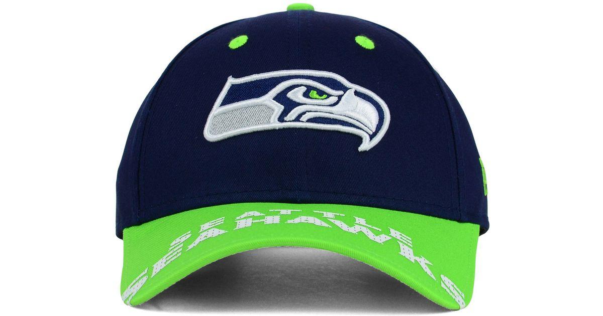 size 40 45830 16e24 Lyst - KTZ Seattle Seahawks Word Pin 2-tone 9forty Cap in Blue for Men