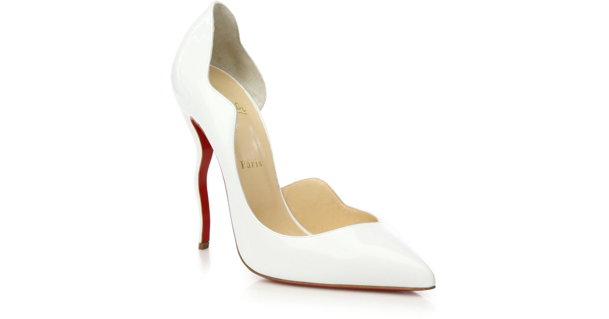 christian louboutin white heels