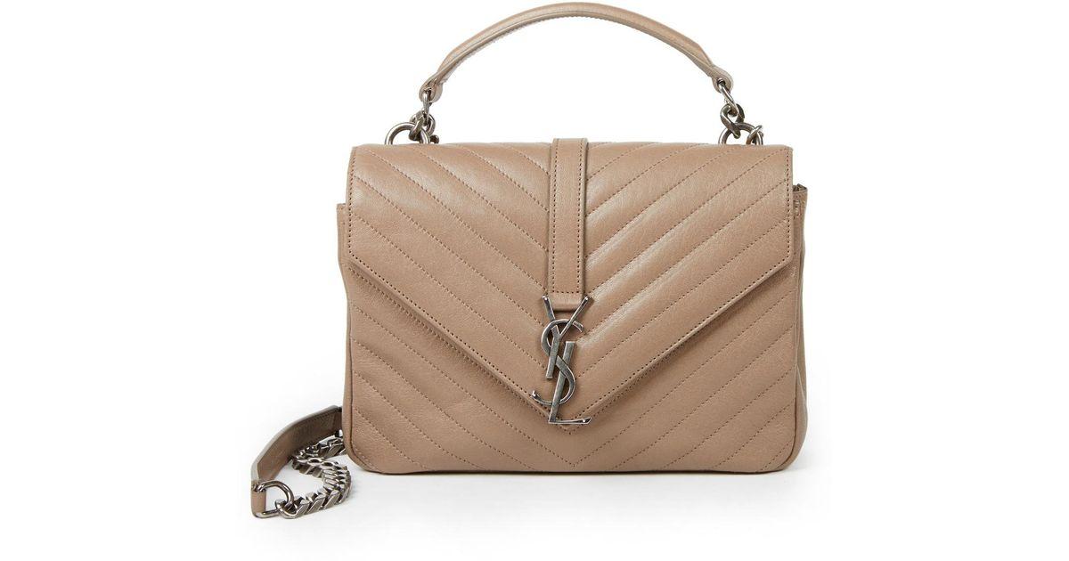 yves saint laurent leather bag - Saint laurent Monogram Medium Matelasse Leather College Bag in ...