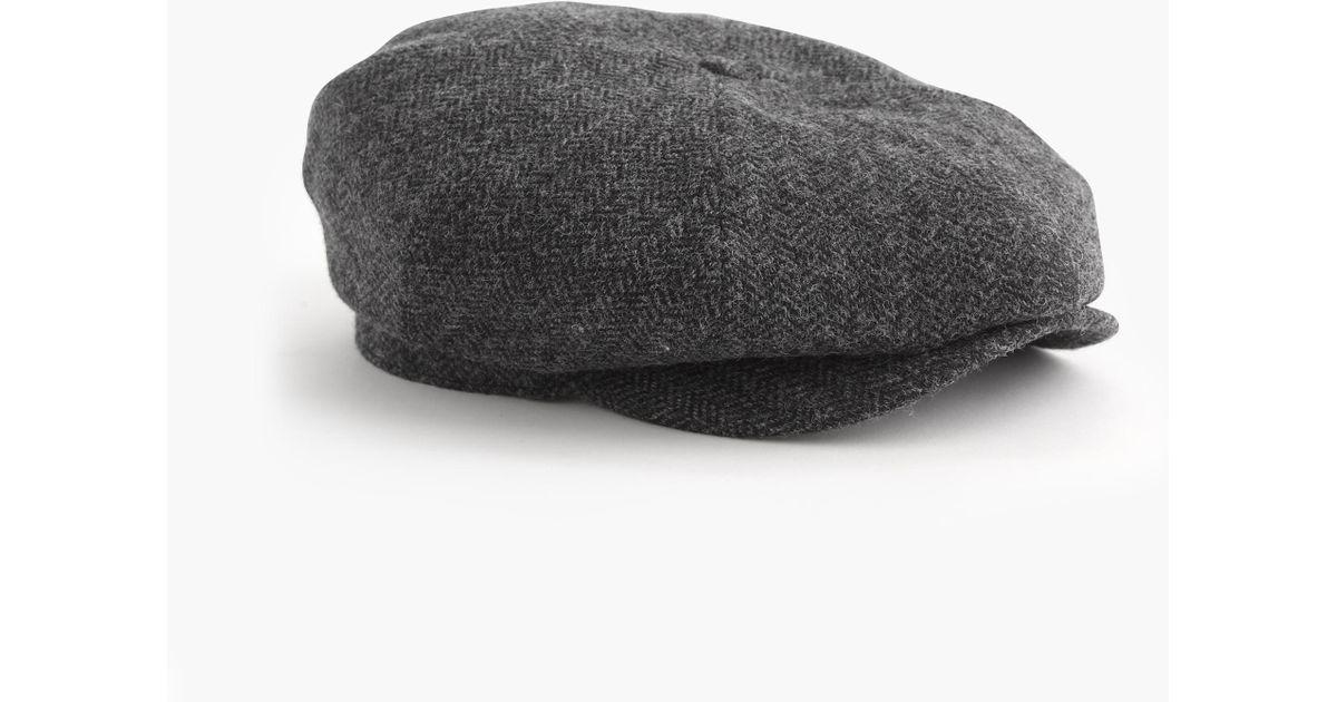 65b858318aa J.Crew English Wool Newsboy Cap in Gray for Men - Lyst