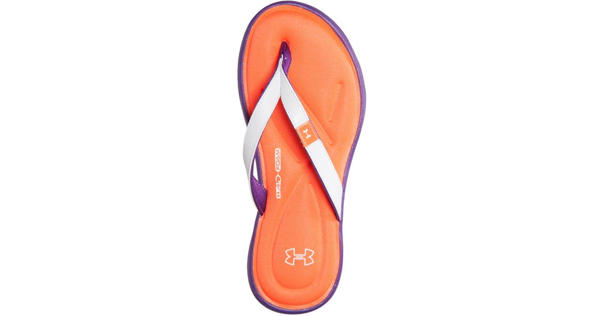 4ce9388daada Lyst - Under Armour Women S Marbella Iv Thong Sandals From Finish Line in  Purple