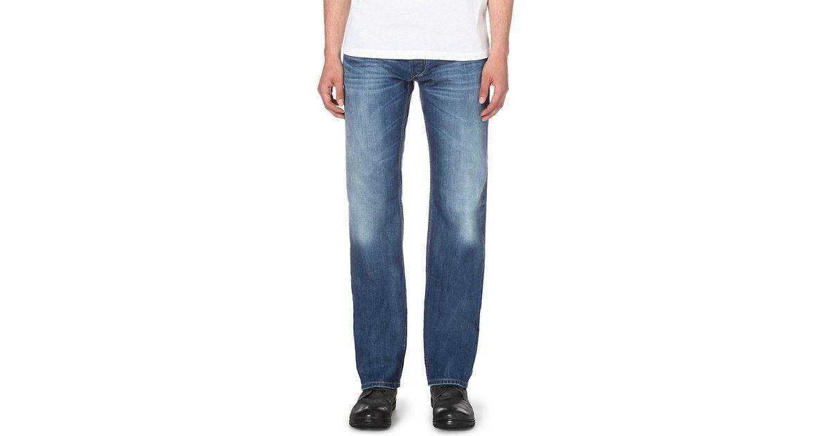 diesel larkee regular fit straight jeans in blue for. Black Bedroom Furniture Sets. Home Design Ideas