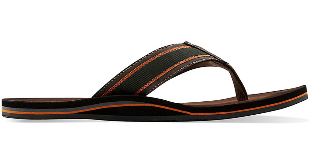 d127cc0b3a61 Lyst - Clarks Logan Tulum Thong Sandals in Green for Men