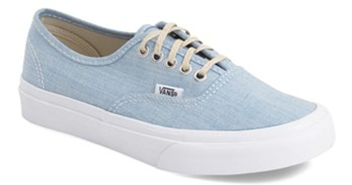 8e2ad28b52 Lyst - Vans Authentic Slim Canvas Sneakers in Blue