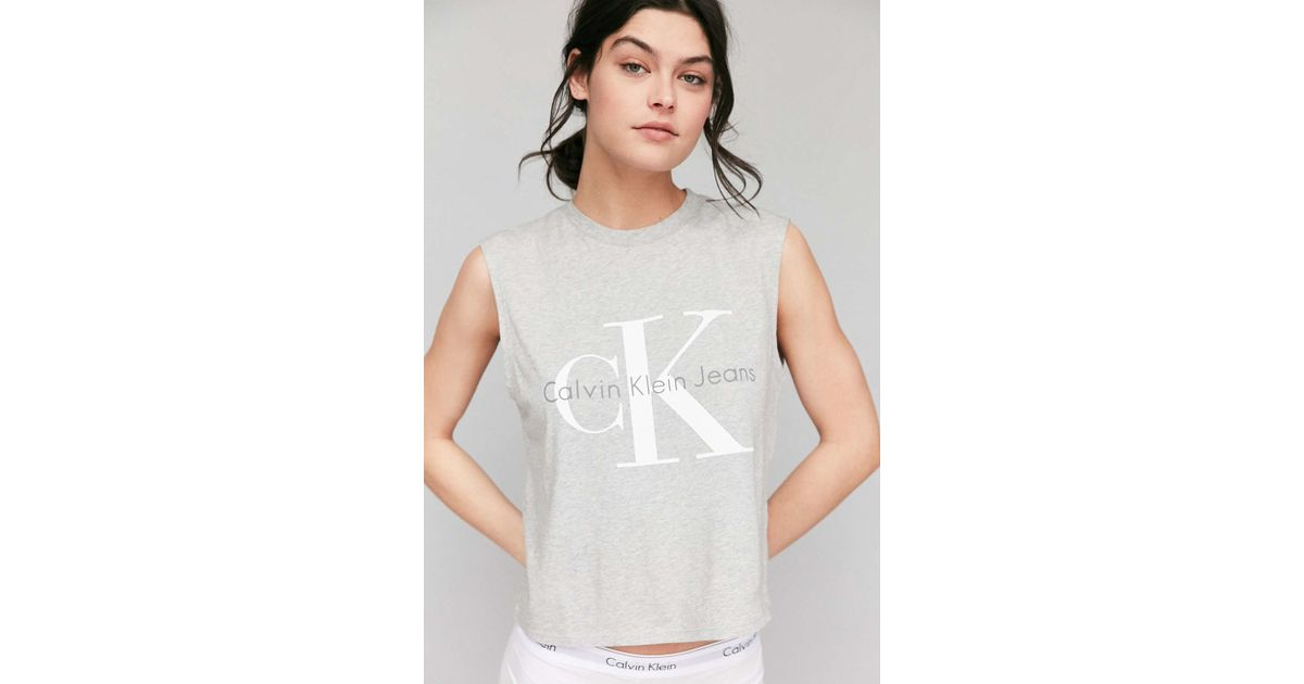 bb142534f28d6 Lyst - Calvin Klein For Uo Muscle Tee in Gray