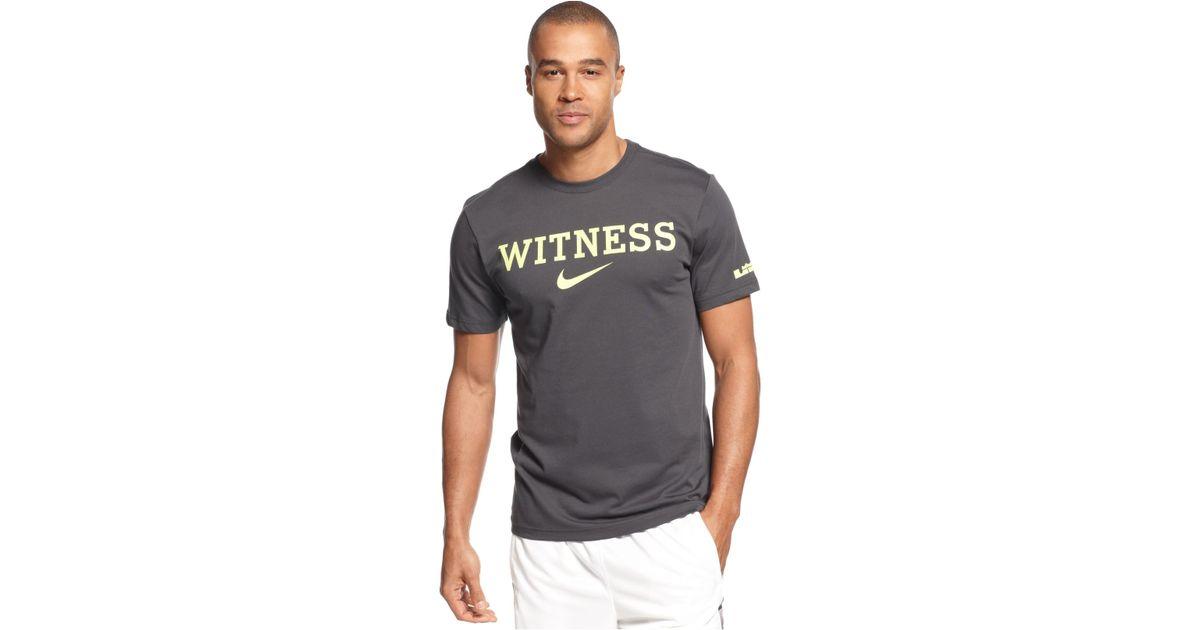 b6648bf3 Nike Lebron Witness Basketball T-Shirt in Gray for Men - Lyst