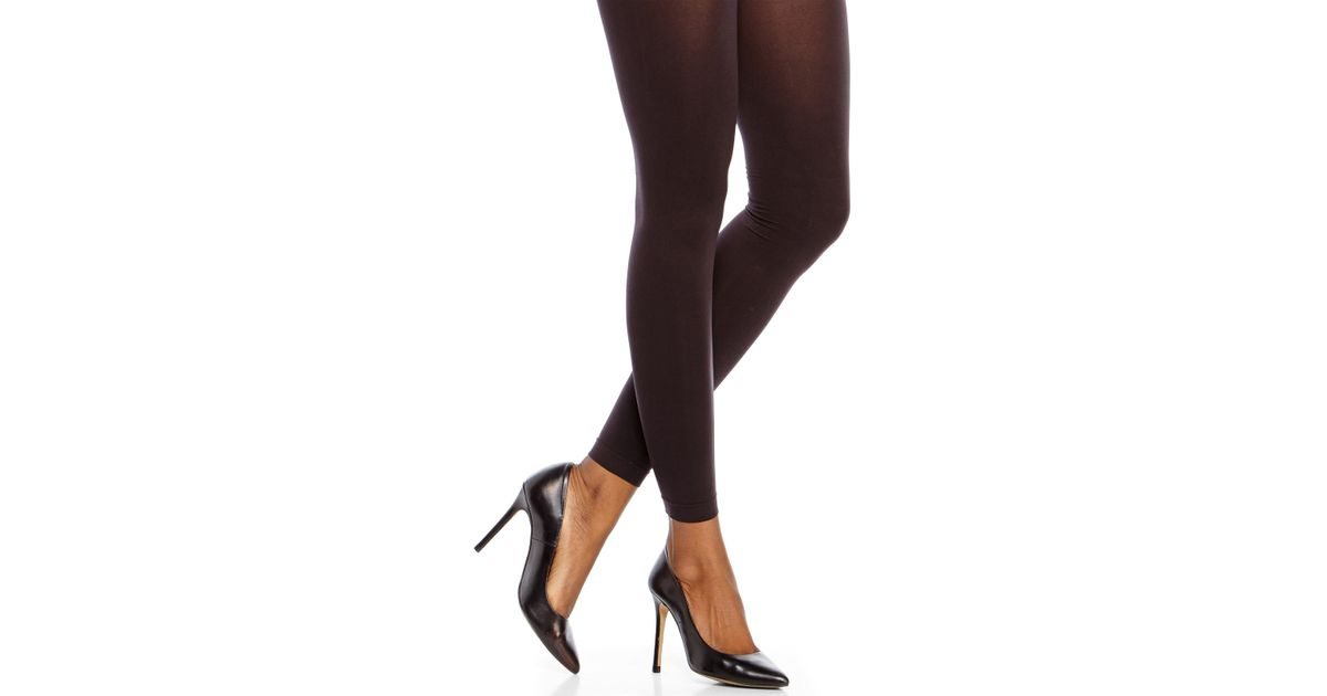58749756170cb Hue Ultimate Opaque Control Top Tights in Black - Lyst