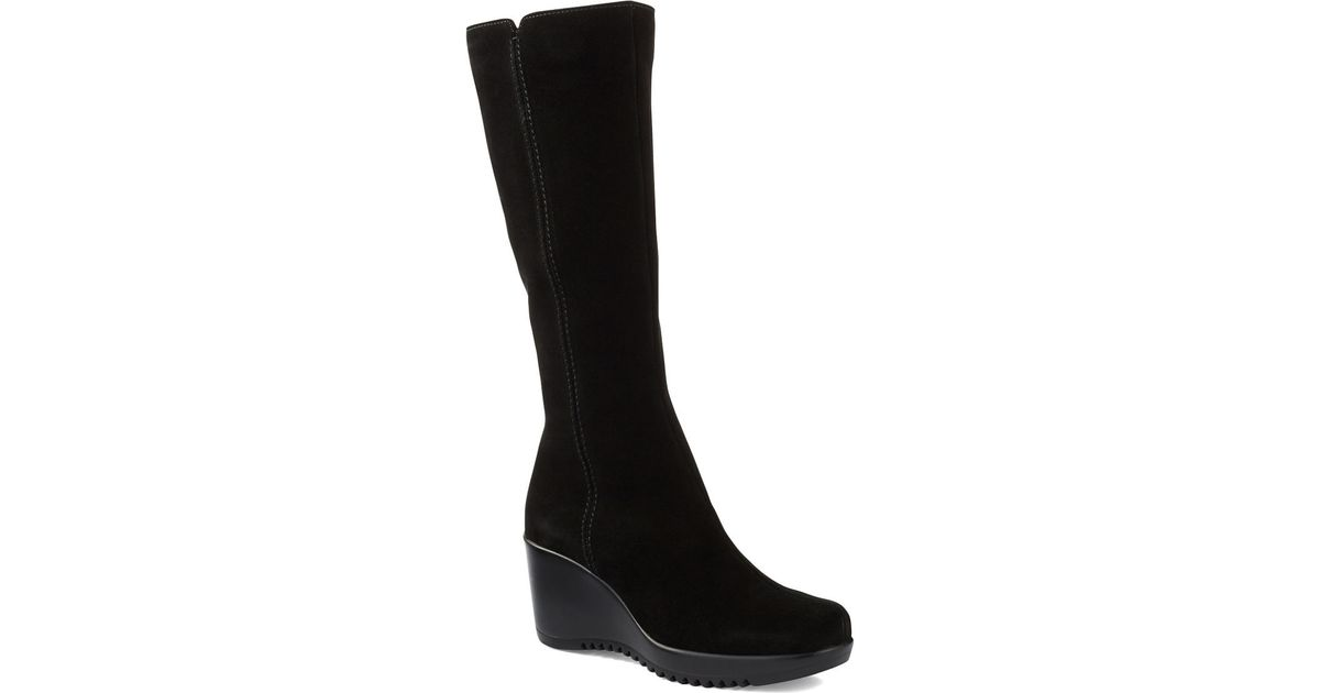New Listing 11 Stuart Weitzman OTK Wedge Heel Tall Black Leather 50/50 Boots Knee High. New (Other) C $ Top Rated Seller New Listing BJORNDAL LADIES BLACK SUEDE LEATHER FAUX FUR LINED BOOTS WEDGE HEEL~SZ ~EUC. Pre-Owned. C $ Time New Listing Totes Womens Black pom pom Size 6 Snow Boots wedge heel black faux fur lined.