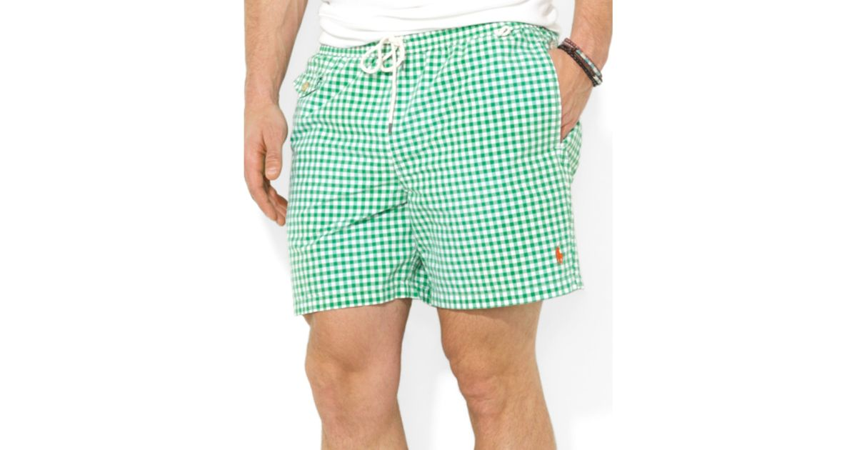 Shorts Inexpensive Lauren A00ec Ralph Polo Swim Checked 07c9e Traveler ALqc543jR