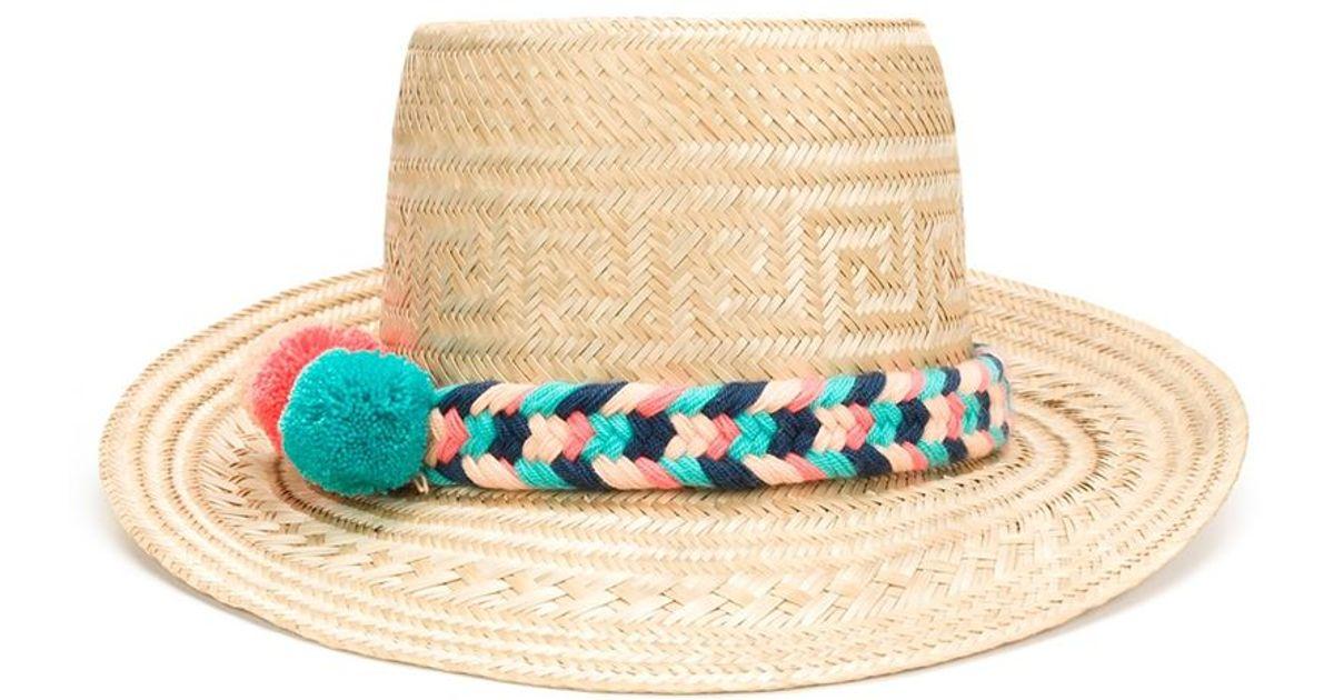 Pink and Blue Marea hat - Nude & Neutrals Yosuzi KMAezNi4