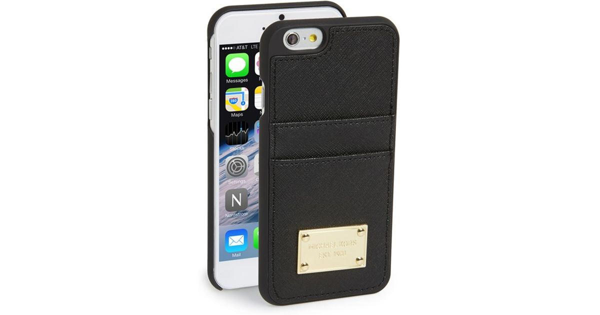 black iphone 6 case with card holder