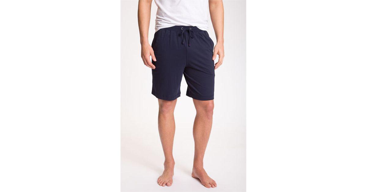 Daniel Buchler Peruvian Pima Cotton Shorts In Blue For Men