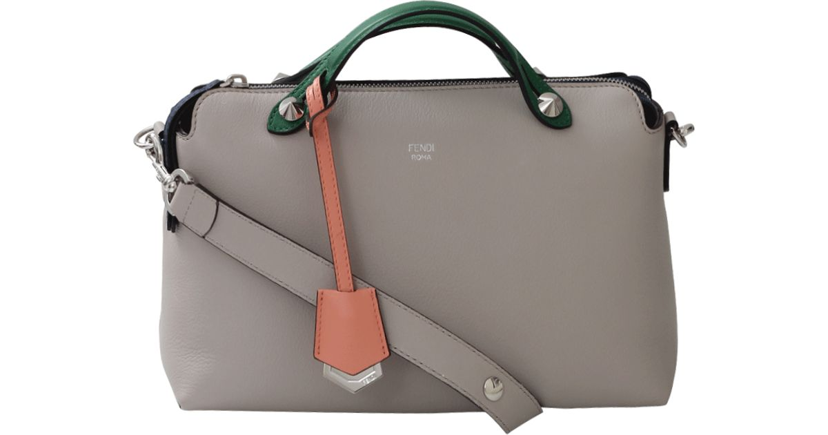 Lyst - Fendi By The Way Small Boston Bag in Gray 6b8e2a618e5b9