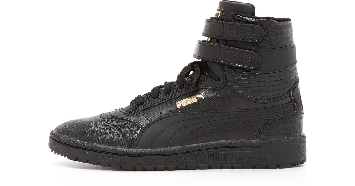 649bfdb48dd379 Lyst - PUMA Sky Ii High Top Sneakers in Black