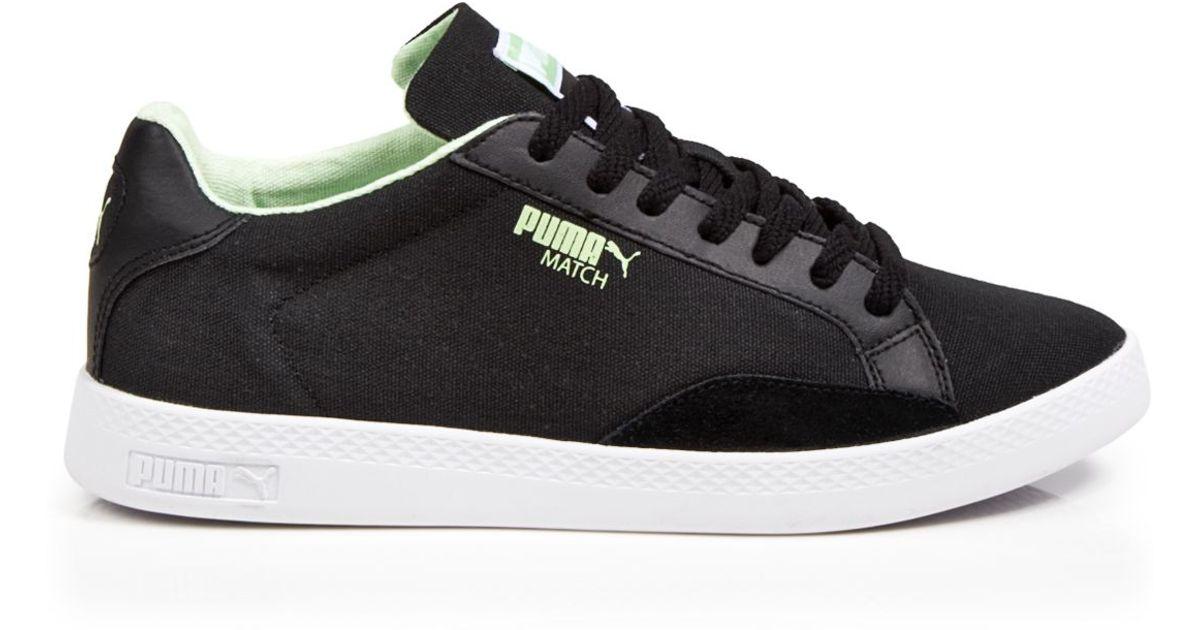 a4e20e3c28bcb0 PUMA - White Lace Up Sneakers - Match Lo Canvas - Lyst