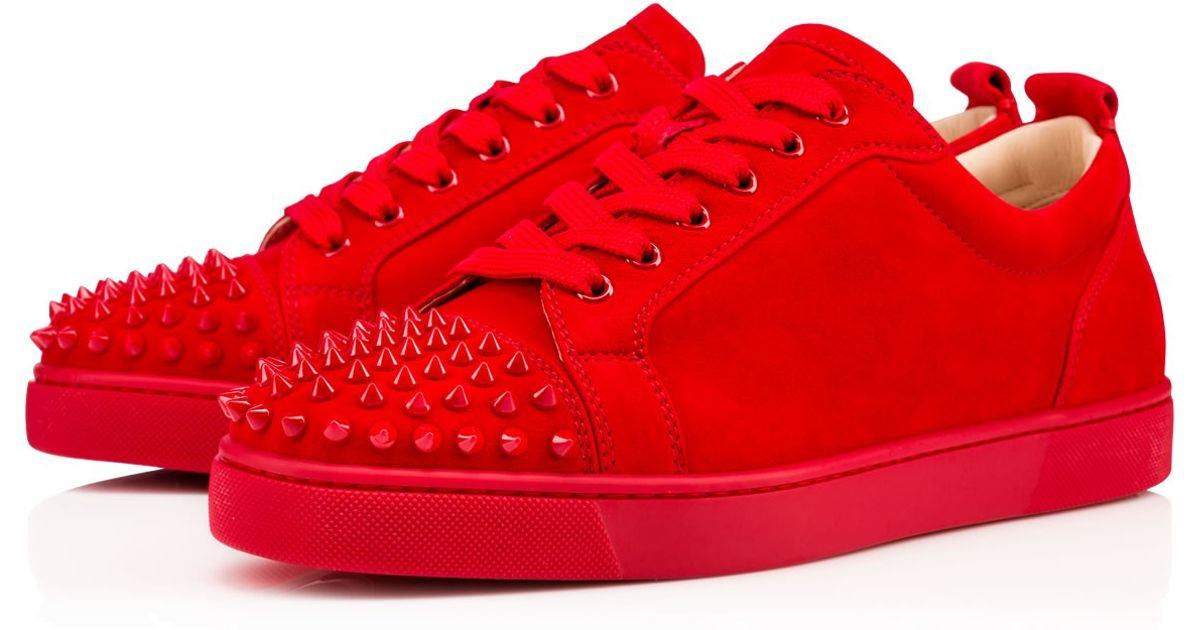 621014394ba9 Lyst - Christian Louboutin Louis Junior Spikes Men s Flat in Red for Men