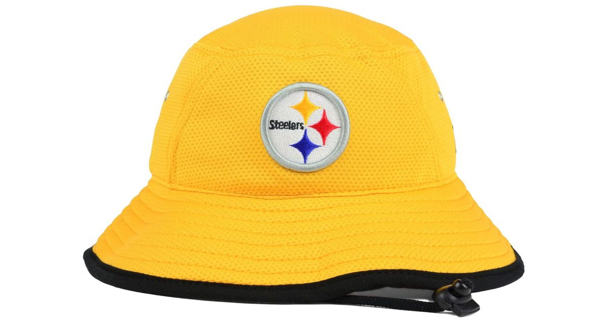 Lyst - KTZ Pittsburgh Steelers Training Bucket Hat in Yellow for Men b8c33365d