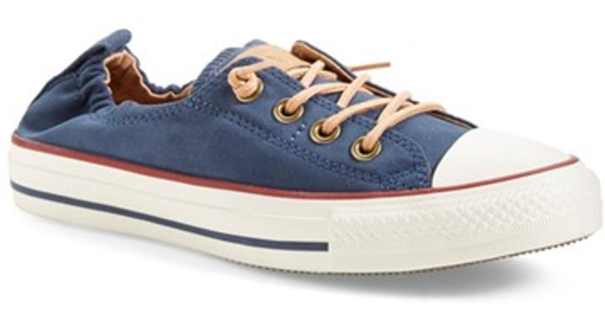 c908b6f5cc0a Lyst - Converse Chuck Taylor All Star  peached - Shoreline  Low Top Slip-on  Sneaker in Blue
