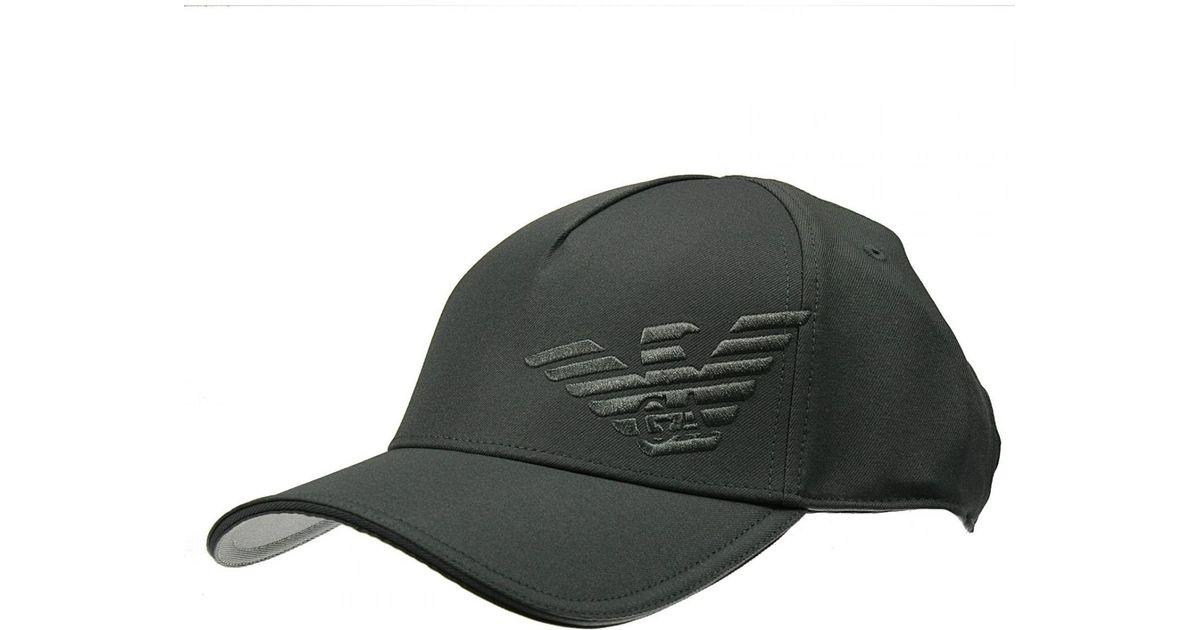 Lyst - Giorgio Armani Hat Baseball Cotton Logo in Gray for Men e45ed289caa
