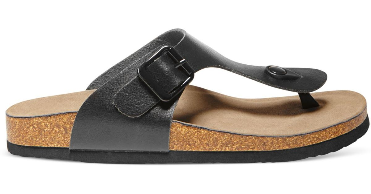 c131b2ed0525 Lyst - Madden Girl Boise Footbed Thong Sandals in Black